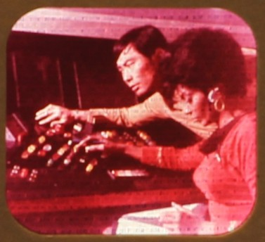 A close-up image of one of the pictures on The Omega Glory Star Trek View-Master reel.