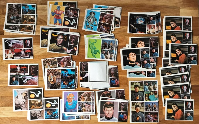 A photo of the extra Star Trek stickers I own from this set.