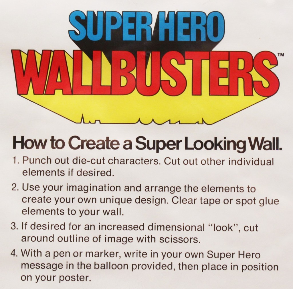 A detail photo of the instructions placed on the poster, telling owners to punch out or cut out the images to then tape to a wall.