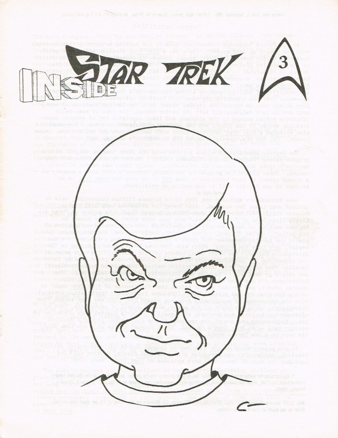 The cover of Inside Star Trek issue 3, with a sketch of Dr. McCoy