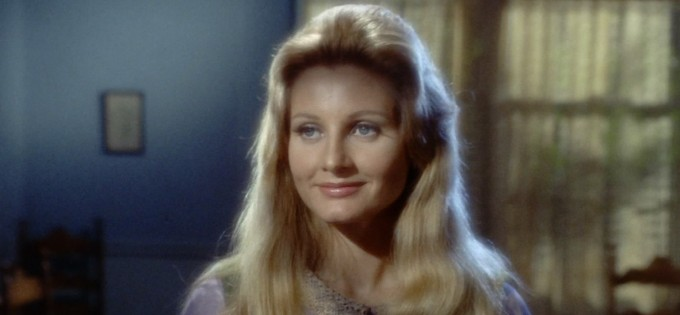 A screenshot showing Leila Kalomi from the Star Trek episode This Side of Paradise