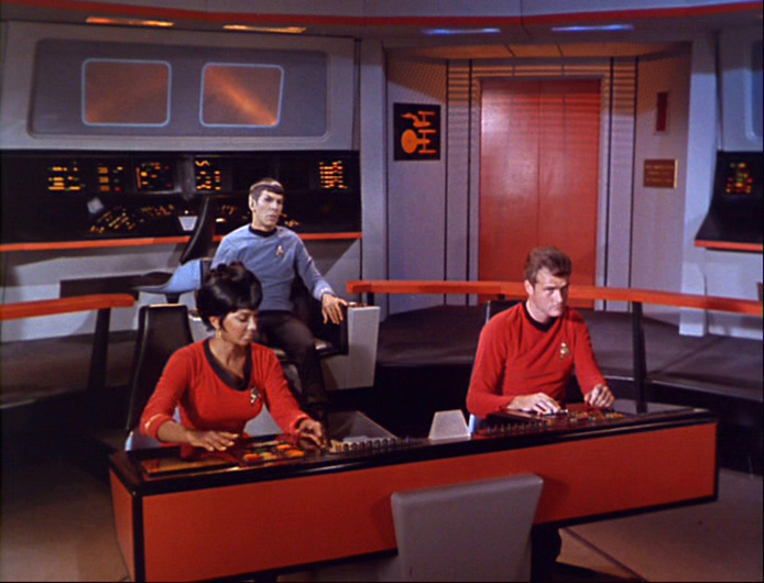 A screen capture of the bridge of the Enterprise from The Naked Time