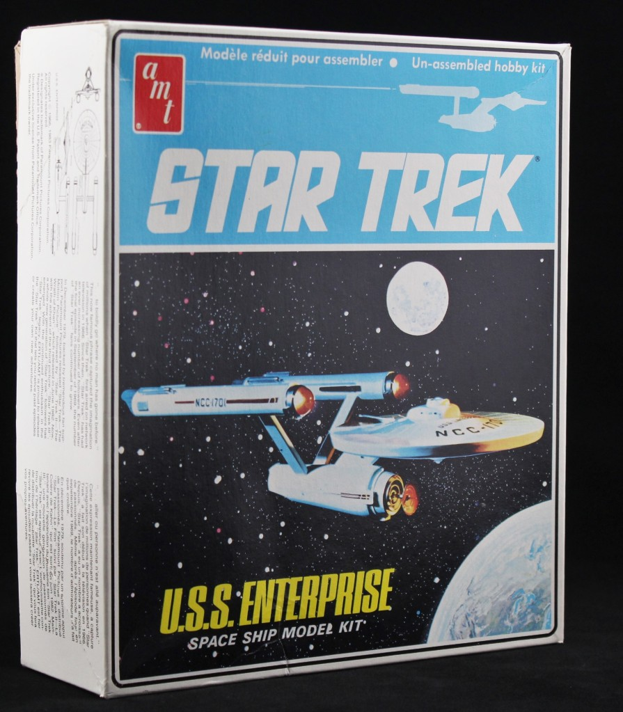 A photo of the box for the 1983 AMT Star Trek Enterprise model