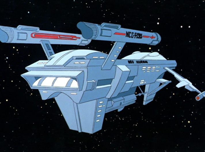 A screen cap of the USS Huron freighter from The Pirates of Orion