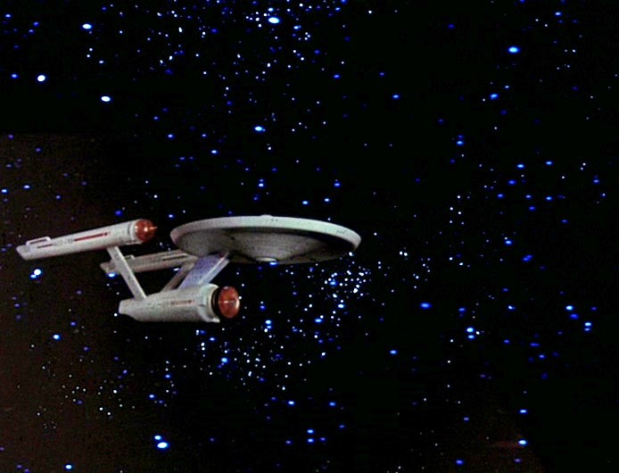 The three-foot model of the Enterprise, as seen in the episode The Cage.